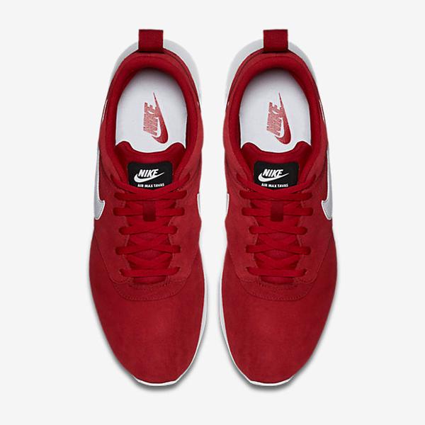 chaussure nike air max tavas trainerendor x thea en daim rouge pour homme (5)