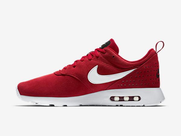 chaussure nike air max tavas trainerendor x thea en daim rouge pour homme (8)