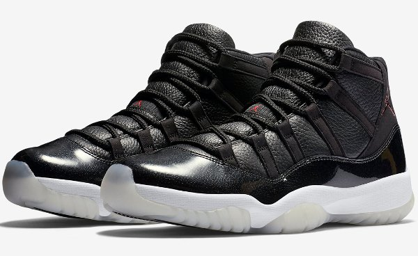 Air Jordan 11 Retro '72-10′ Black Gym Red