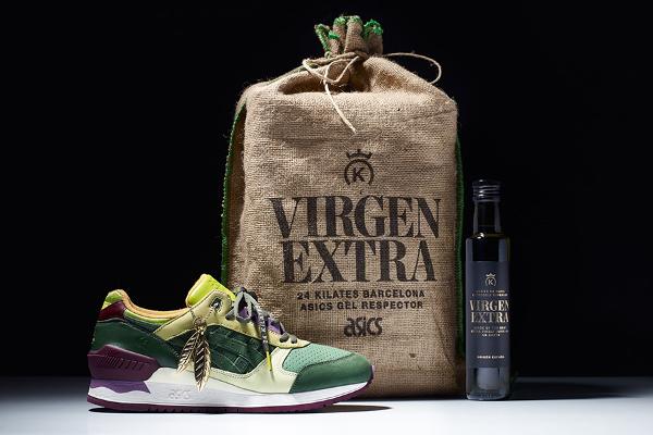 24 Kilates x Asics Gel Respector Olive Virgen Olive (2)