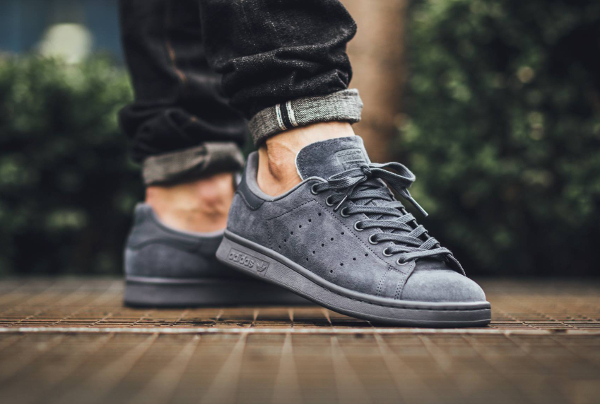 Adidas Stan Smith Suede Onix (2)