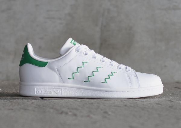 Adidas Stan Smith W OG White Green pour femme pas cher (1)