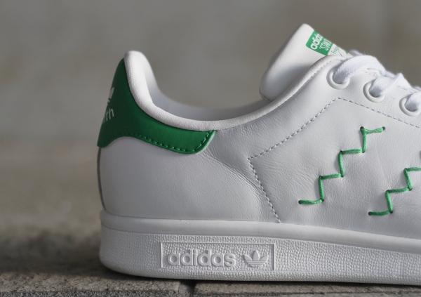 Adidas Stan Smith W OG White Green pour femme pas cher (3)