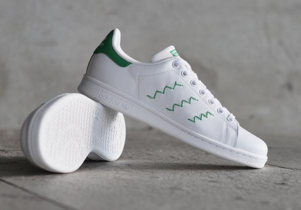 Adidas Stan Smith W OG White Green pour femme pas cher (5)