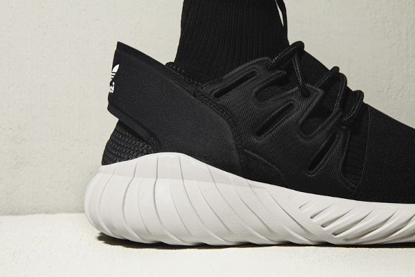 Adidas Tubular Doom Primeknit Black Cream White (2)