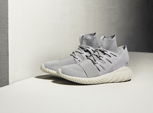Adidas Tubular Doom Primeknit Solid Grey Cream White (3)