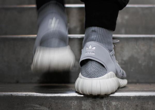 Adidas Tubular Doom Primeknit Solid Grey pas cher (4)