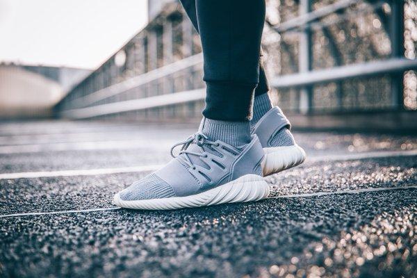 Adidas Tubular Doom Primeknit Solid Grey pas cher (5)