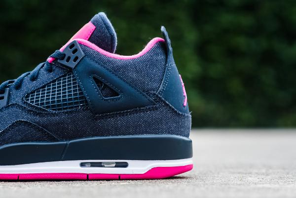 O 249 Acheter La Air Jordan 4 Retro Denim Obsidian Pink