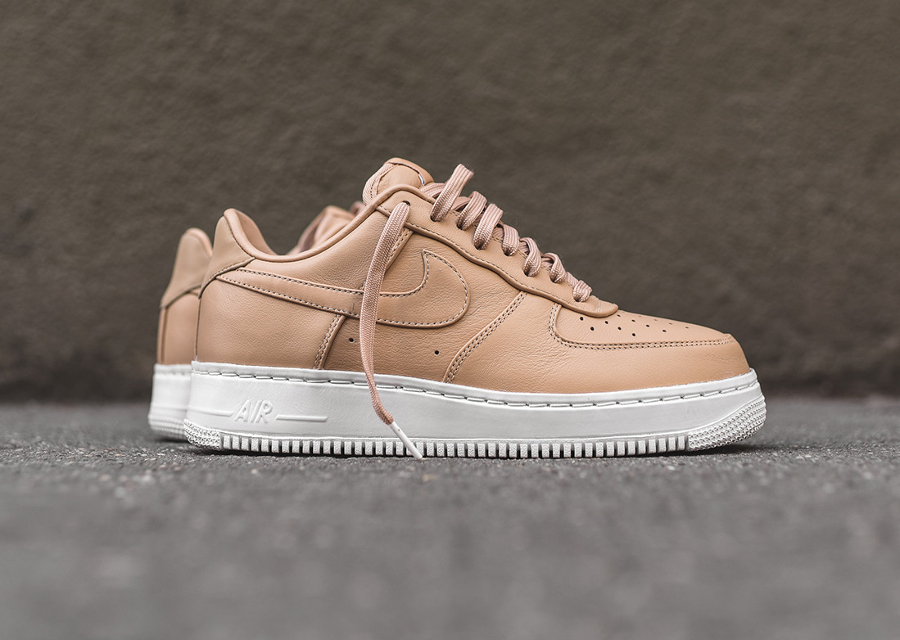 chaussure nikelab air force 1 low premium blue grey cuir