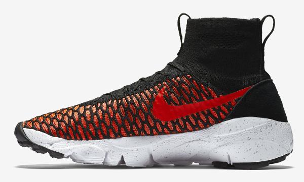 Nike Air Footscape Magista Flyknit Black Bright Crimson (4)