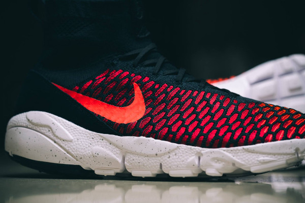 Nike Air Footscape Magista Flyknit Black Bright Crimson (5)