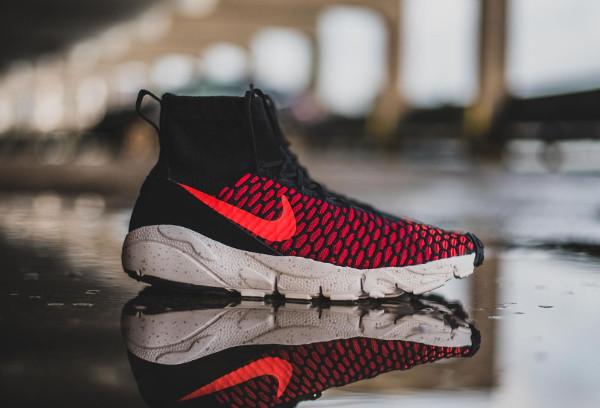 Nike Air Footscape Magista Flyknit Black Bright Crimson (6)
