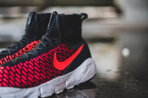 Nike Air Footscape Magista Flyknit Black Bright Crimson (7)