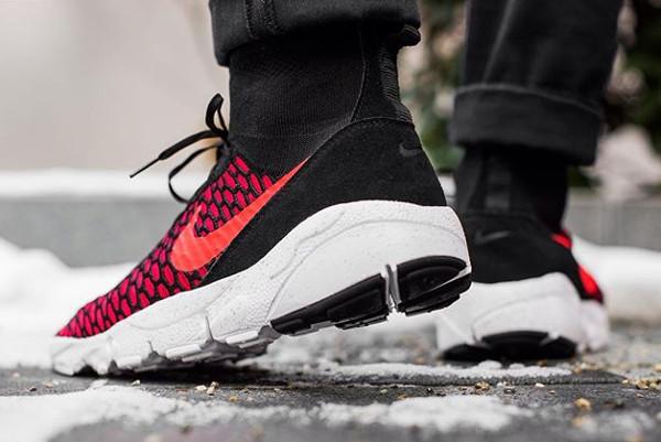 Nike Air Footscape Magista Flyknit Black Bright Crimson pas cher (2)