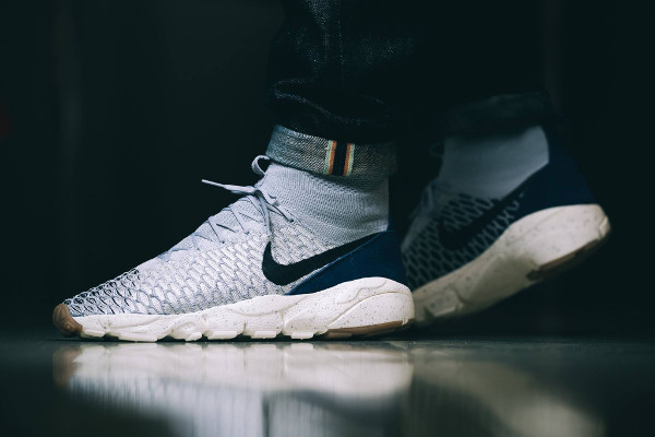 Nike Air Footscape Magista Flyknit Wolf Grey Obsidian pas cher