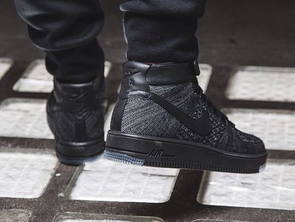 Nike Air Force 1 Ultra Flyknit Dark Grey pas cher (5)