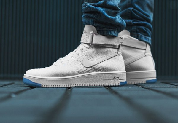 Nike Air Force 1 Ultra Flyknit White (blanche) pas cher (1)