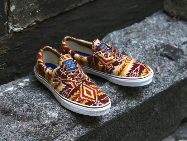 chaussure Vans Era en laine Pendleton Tribal Tan (1)