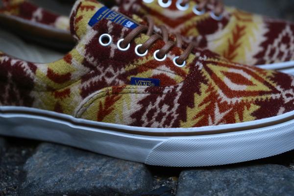 chaussure Vans Era en laine Pendleton Tribal Tan (4)