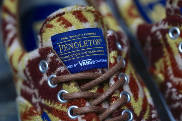 chaussure Vans Era en laine Pendleton Tribal Tan (5)
