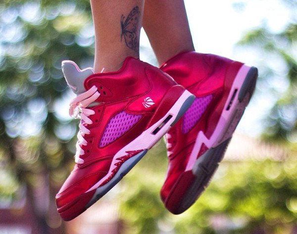 (2013) Air Jordan 5 Valentine s day Gym Red Ion Pink - @ivoniceeeee (1)