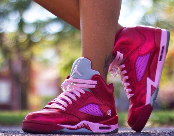 (2013) Air Jordan 5 Valentine s day Gym Red Ion Pink - @ivoniceeeee