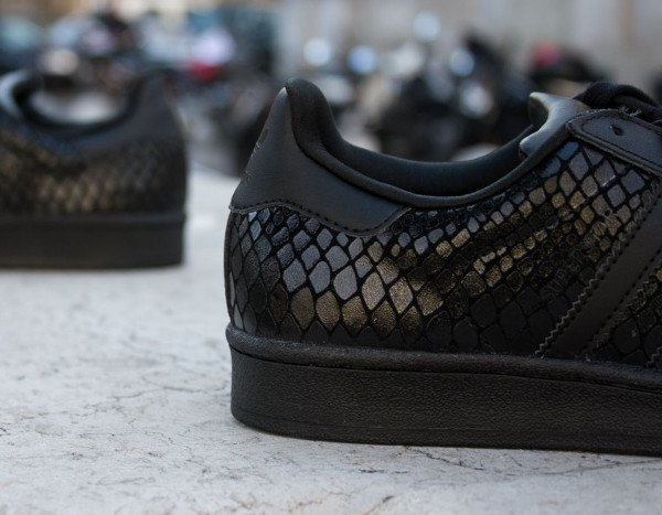 adidas superstar noir brillante