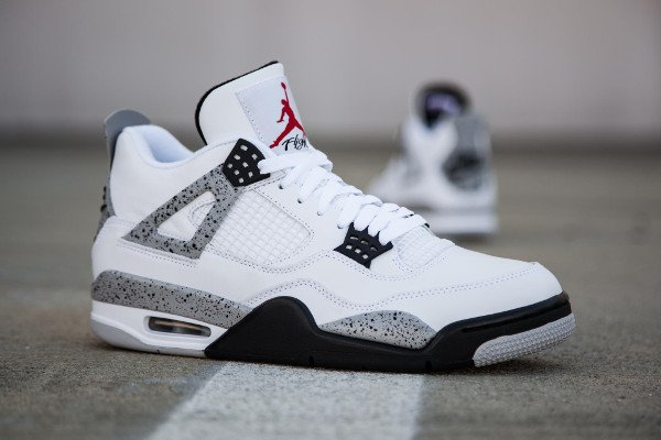 Air Jordan 4 Retro Cement Nike Air 2016 pas cher (1)