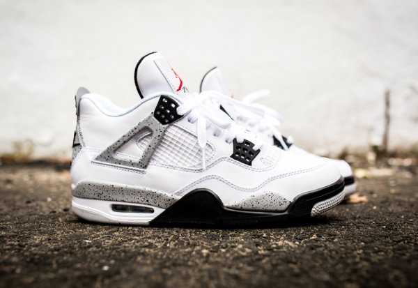 Air Jordan 4 Retro Cement Nike Air 2016 pas cher (2)