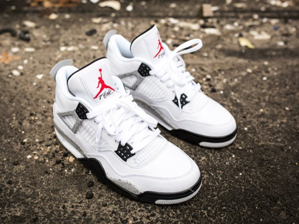 Air Jordan 4 Retro Cement Nike Air 2016 pas cher (3)