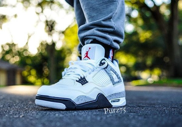 Air Jordan 4 Retro Cement Nike Air 2016 pas cher (4)