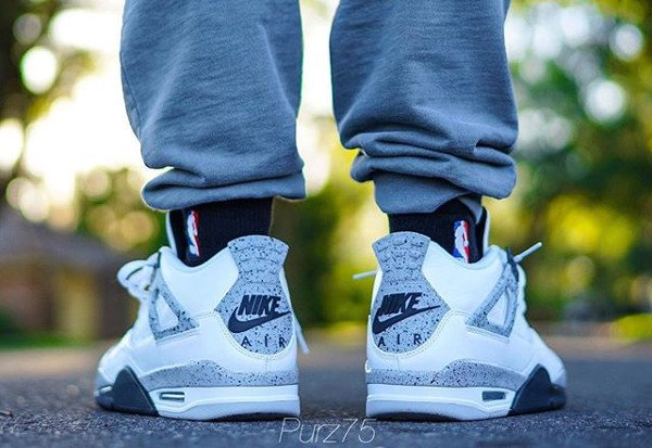 Air Jordan 4 Retro Cement Nike Air 2016 pas cher (5)