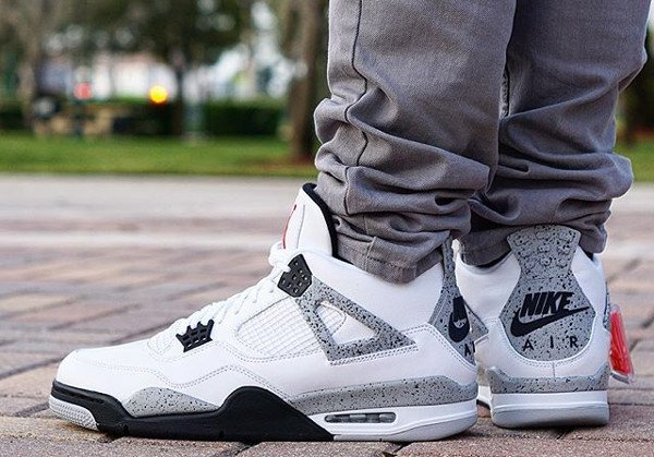 Air Jordan 4 Retro Cement Nike Air 2016 pas cher (6)