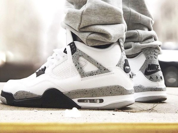 Air Jordan 4 Retro Cement Nike Air 2016 pas cher (8)