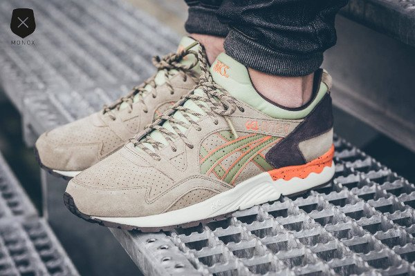 Asics Gel Lyte V Scorpion Light Olive pas cher (2)