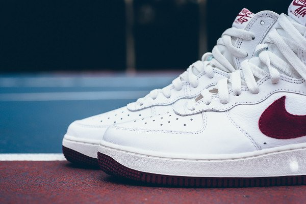 Nike Air Force 1 Hi Retro QS Summit White Team Red (7)
