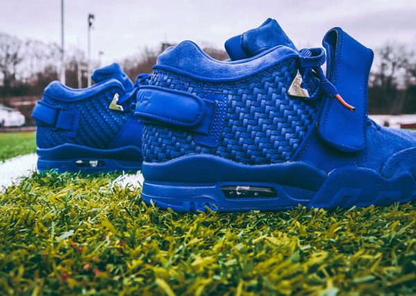 Nike Air Trainer Victor Cruz bleue Rush Blue Gym Red (7)