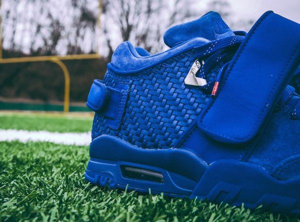 Nike Air Trainer Victor Cruz bleue Rush Blue Gym Red (8)