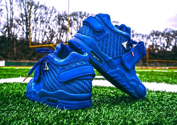 Nike Air Trainer Victor Cruz bleue Rush Blue Gym Red (9)