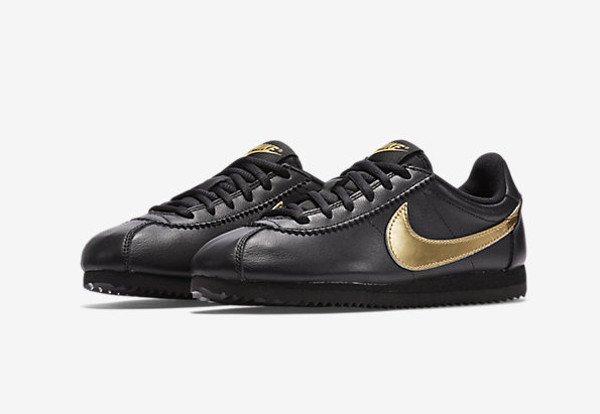 Nike Cortez QS Black Metallic Gold (1-1)