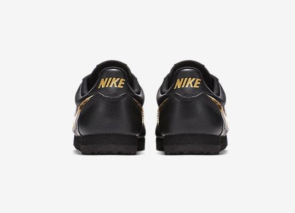 Nike Cortez QS Black Metallic Gold (2)