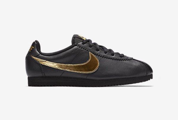 Nike Cortez QS Black Metallic Gold (3)