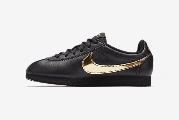 Nike Cortez QS Black Metallic Gold (4)