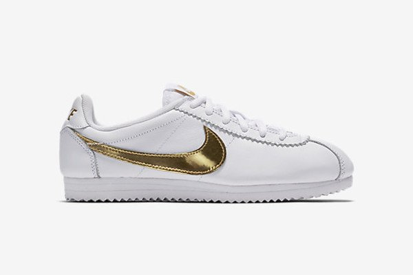 Nike Cortez QS White Metallic Gold (2)