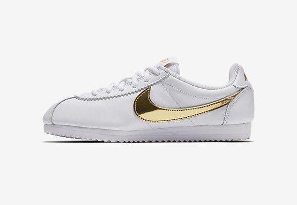 Nike Cortez QS White Metallic Gold (3)