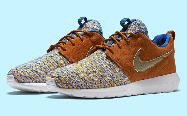 Nike Roshe NM Flyknit PRM 'Metallic Gold Grain/Tawny'