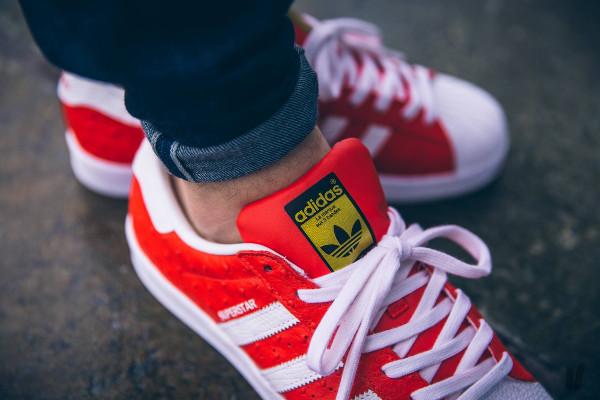 adidas superstar rouge bleu