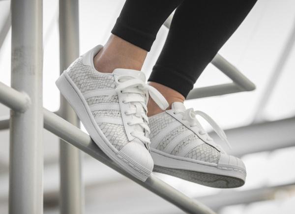 acheter Adidas Superstar W White Reptile pas cher (2)