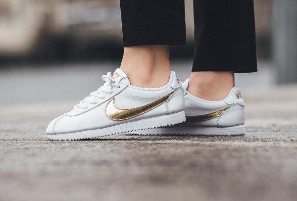 acheter Nike Cortez QS White Gold Swoosh pas cher (1)